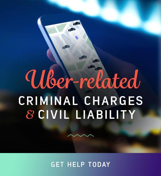 uber civil claim vs. criminal claim